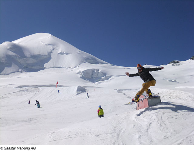 Boarderpark in Saas Fee