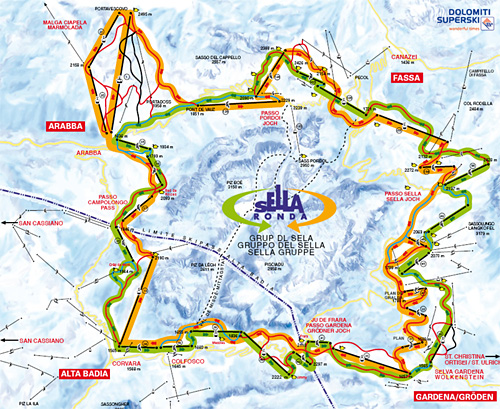 La Villa Skigebiet Pistenplan