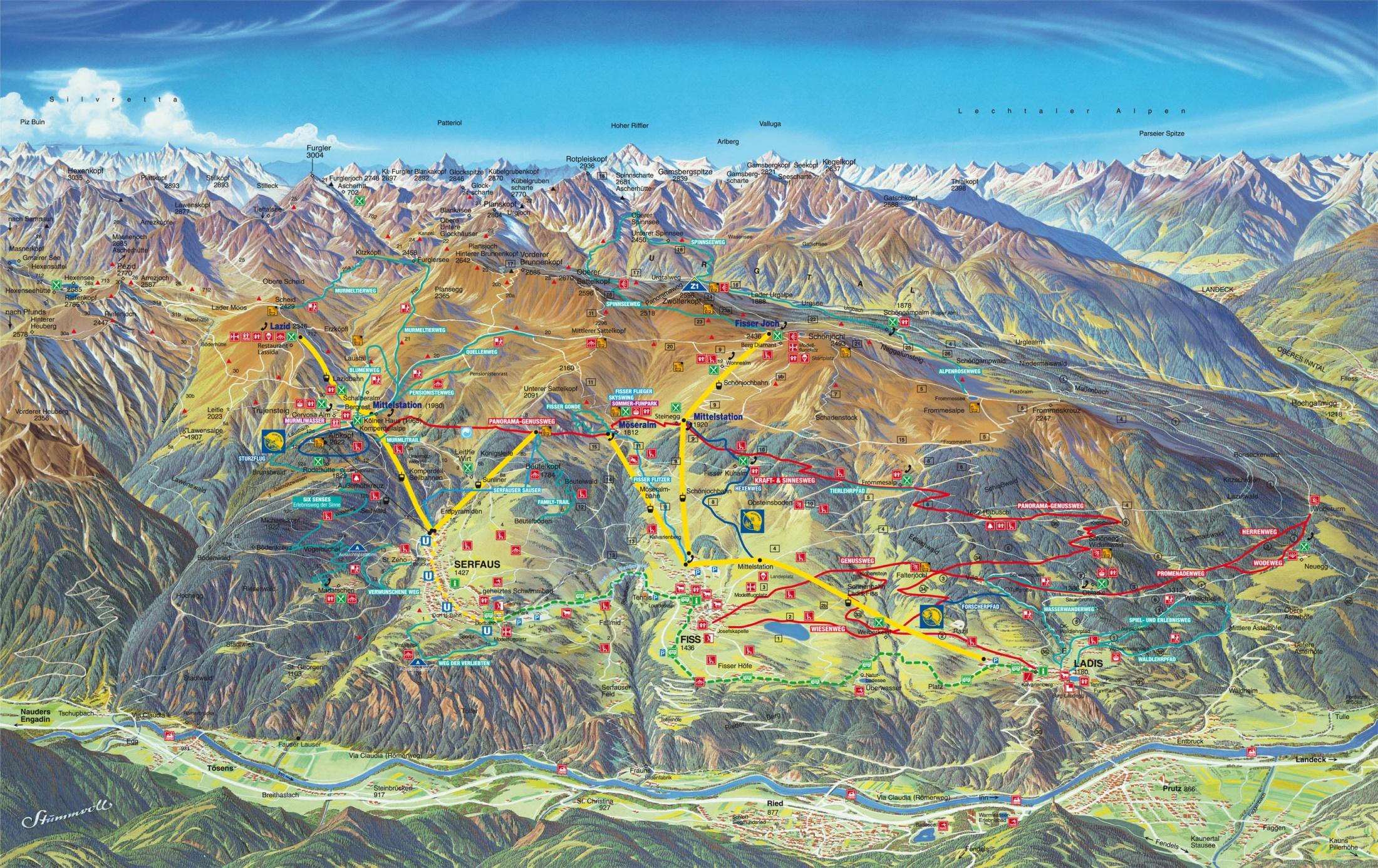 Wandern In Der Region Serfaus Fiss Ladis Wanderurlaub In Tirol